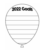 2018 Goals Balloon Outline Template