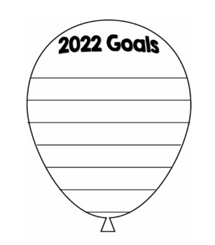 2019 Goals Balloon Outline Template