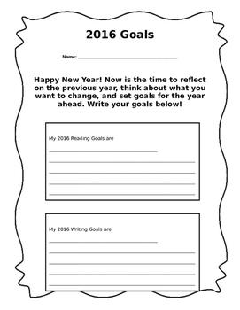 2016 Goals Handout