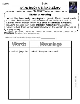 2016 Grade 3 ReadyGen Unit 4 Module A Comprehension and Reading Analysis