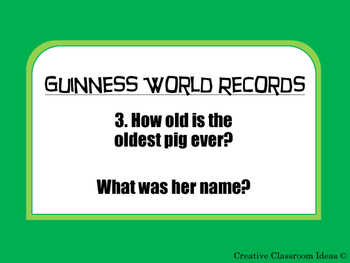 2016 Guinness World Records Activity Cards
