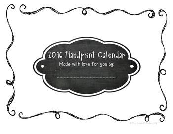 2016 Handprint Calendar! Full Color and Black & White!