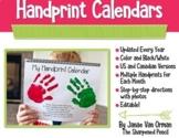 Handprint Calendar with Poems - Editable!
