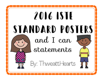 ISTE I Can Statements Posters