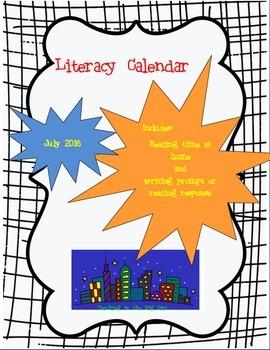 2016 July Writing Prompt Calendar