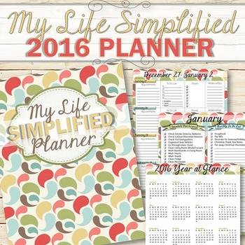 2016 Life Management Planner - INSTANT DOWNLOAD