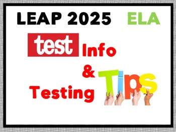 PARCC/LEAP 2016 Louisiana State Testing for 4-8th ELA Stud