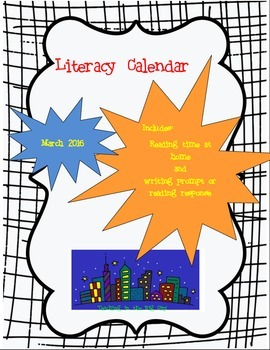 2016 March Writing Prompt Calendar