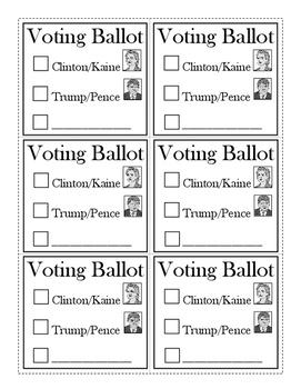 2016 Mock Presidential Election Ballot
