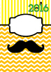 2016 Moustache-themed binder covers CITRUS TANG