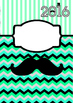 2016 Moustache-themed binder covers MINTY and MELLOW