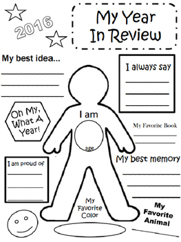 2016 My Year in Review Activity Sheet