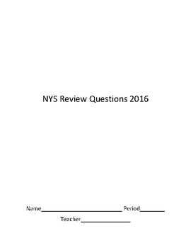 2016 NYS CCSS Test Grade 6 Math Released Questions