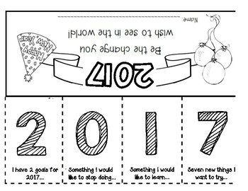 2017 New Year's Resolutions Flip Book