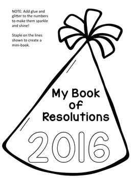 2017 New Year's Resolutions Writing Activities