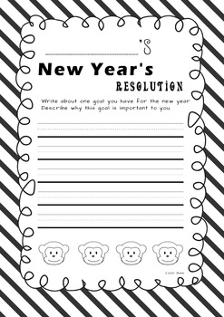 2016 New Year's Resolutions-year of the Monkey