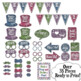 2017 New Years Eve Photo Booth Props and Decorations - Colorful Glitter