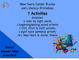 2016 New Years Printables. CVC CCVC words, color by sight word and more