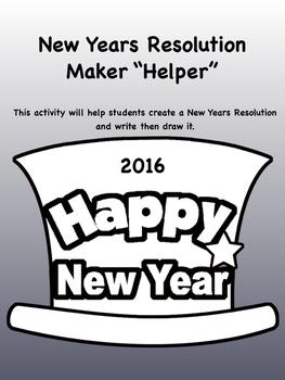2016 New Years Resolution Maker Helper