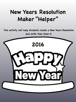 2016 New Years Resolution Maker Helper