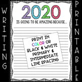 2019 New Year's Writing Paper (FREEBIE)