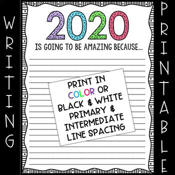 2017 New Year's Writing Paper (FREEBIE)