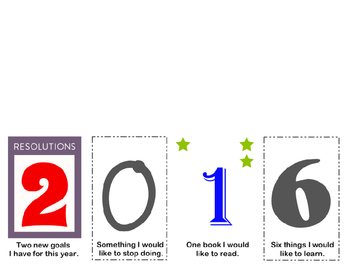 2016 New Years Resolutions Foldable