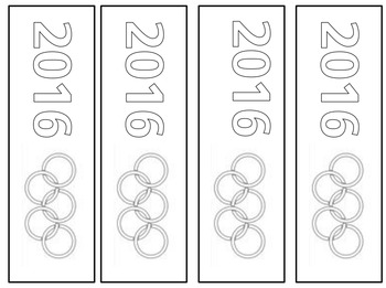 2016 Olympic colour-in bookmarks