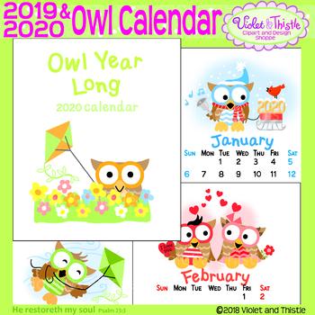 Christmas Calendar 2019 Printable 2019 Owl Calendar 2019 Printable Calendar Christmas Gifts for