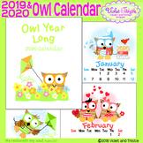 2019 Owl Calendar 2019 Printable Calendar Christmas Gifts for Teachers Printable