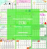 2016 Planning Calendar