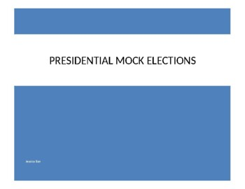 2016 Presidential Ballot and Voter Registration card