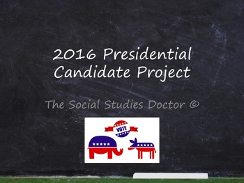 2016 Presidential Candidate Research Project and Presentation