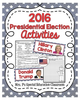 2016 Presidential Election Activities