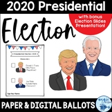 "2016 Presidential Election Ballots - Clinton / Trump & bonus ""I Voted"" stickers!"