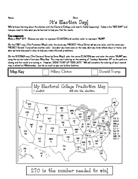 2016 Presidential Election Electoral College Homework