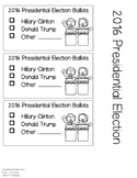 2016 Presidential Election Voting Ballot