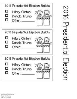 2016 Presidential Election Voting Ballot