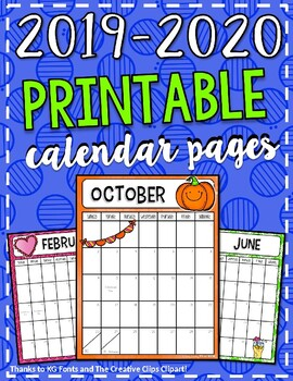 2016 Printable Portrait Calendar {+ an editable version}