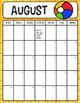 2018-2019 EDITABLE Printable Portrait Calendar