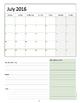 2016 Private Music Teacher Agenda & Planner {Summer Edition}