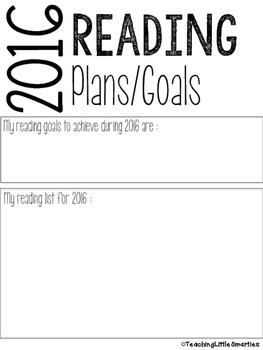 2016 Reading Plans/Goals