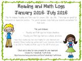 2016 Reading and Math Homework Logs