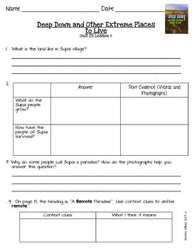 2016 ReadyGen 3rd Grade Unit 2 Module B Comprehension & Reading Analysis
