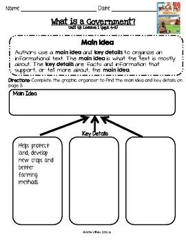 2016 Readygen 3rd Grade Unit 4 Module B Lesson 1 What is a Government?