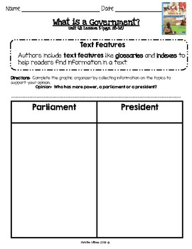 2016 Readygen 3rd Grade Unit 4 Module B Lesson 5 What is a Government?
