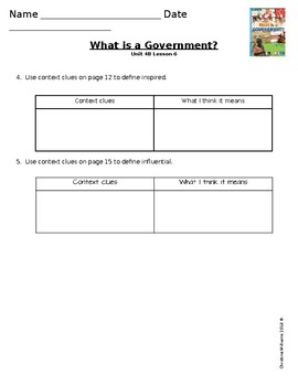 2016 Readygen 3rd Grade Unit 4 Module B Lesson 6 What is a Government?