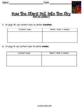 2016 Readygen 4th Grade Unit 2 Module A Lesson 6 How the Stars Fell into the Sky
