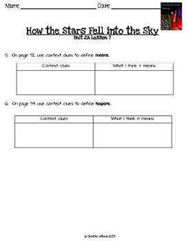 2016 Readygen 4th Grade Unit 2 Module A Lesson 7 How the Stars Fell into the Sky