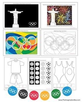 Sporty Summer Olympic Games Art Activities & Classroom Decor